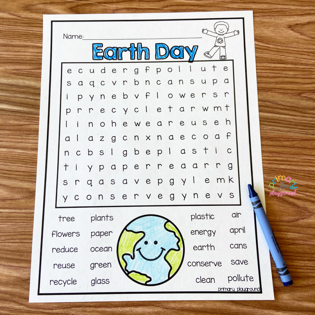 Free Printable Earth Day Word Search Primary Playground
